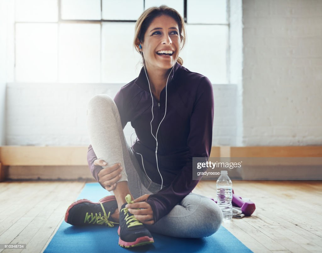 Exercising can leaving you feeling oh so great : Stock Photo