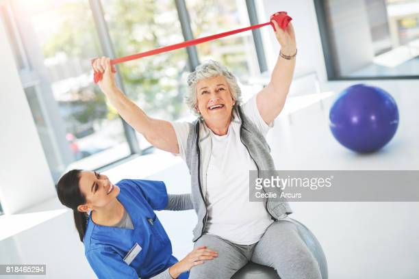 Exercising makes her feel young again