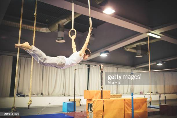 Exercising on gymnastic rings