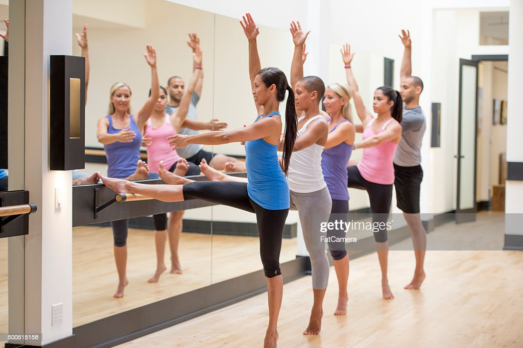 Exercising on the Bar : Stock Photo