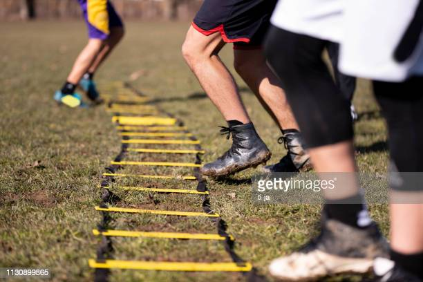 exercising outdoors - sports training drill stock pictures, royalty-free photos & images