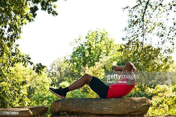 exercising outdoors - piedmont park atlanta georgia stock pictures, royalty-free photos & images
