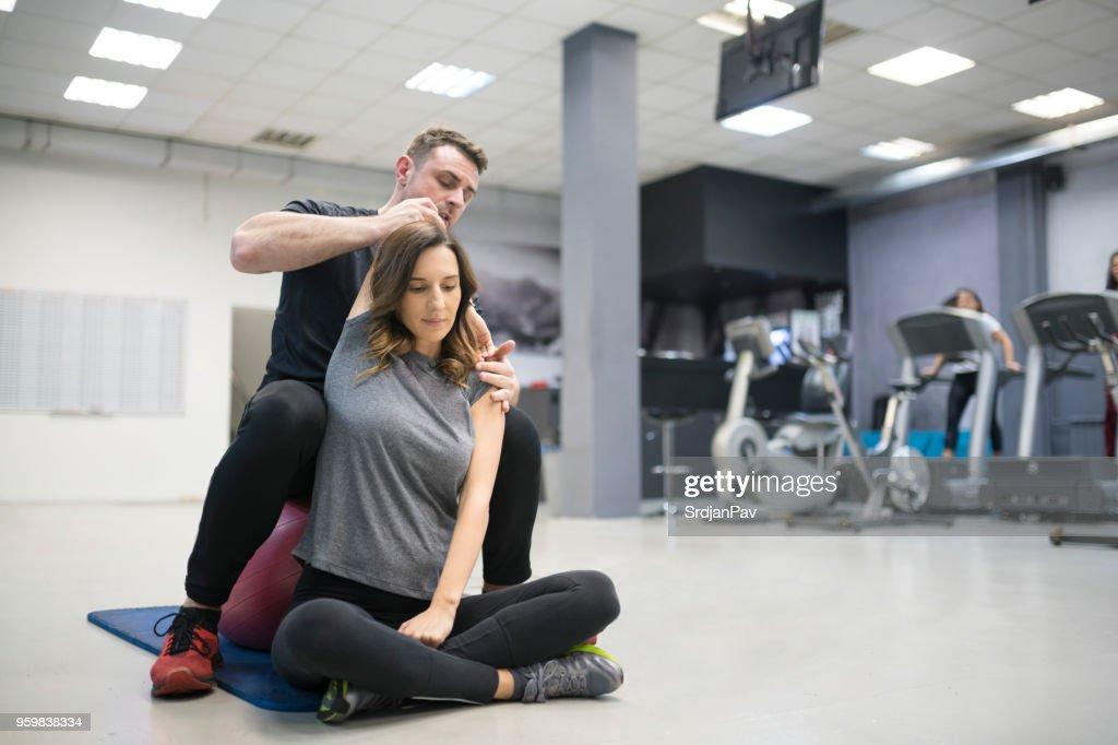 Das Training mit einem Experten : Stock-Foto