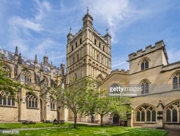 Exeter Cathedral Gardens and South Tower