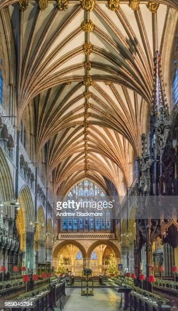 Exeter Cathedral Quire vaulted ceiling & Great East Window