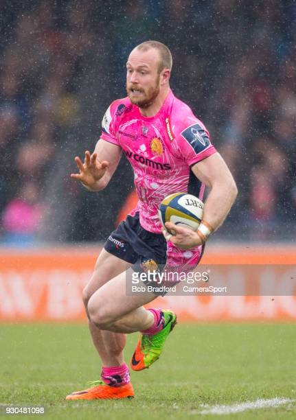 EXETER ENGLAND MARCH Exeter Cheifs' James Short during the Anglo Welsh Cup Semi Final match between Exeter Chiefs and Newcastle Falcons at Sandy Park...