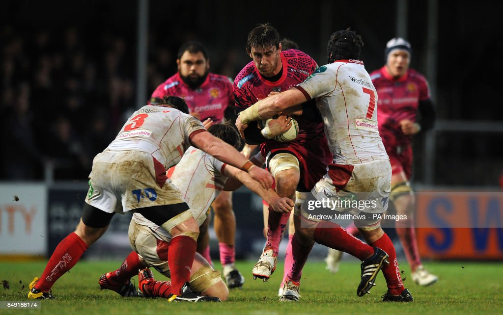 Rugby Union - Heineken Cup - Pool Five - Exeter Chiefs v Scarlets - Sandy Park : News Photo