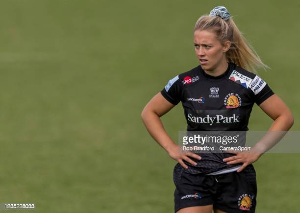 Exeter Chiefs' Brooke Bradley during the Allianz Premier 15s match between Exeter Chiefs Women and Sale Sharks Women at Sandy Park on September 12,...
