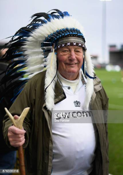 Exeter Chiefs fans pictured before the Aviva Premiership match between Exeter Chiefs and Harlequins at Sandy Park on November 19 2017 in Exeter...