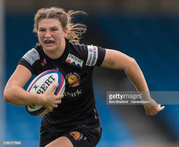 Exeter Chiefs' Flo Robinson during the Allianz Premier 15s match between Exeter Chiefs Women and Sale Sharks Women at Sandy Park on September 12,...