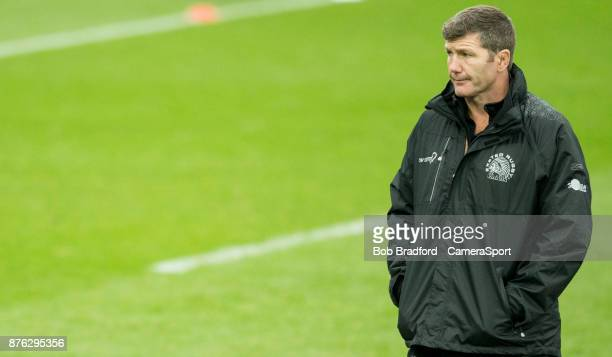 Exeter Chiefs' Head Coach Rob Baxter during the Aviva Premiership match between Exeter Chiefs and Harlequins at Sandy Park on November 19 2017 in...