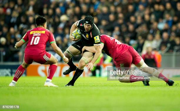 Exeter Chiefs' Julian Salvi in action during todays match during the Aviva Premiership match between Exeter Chiefs and Harlequins at Sandy Park on...
