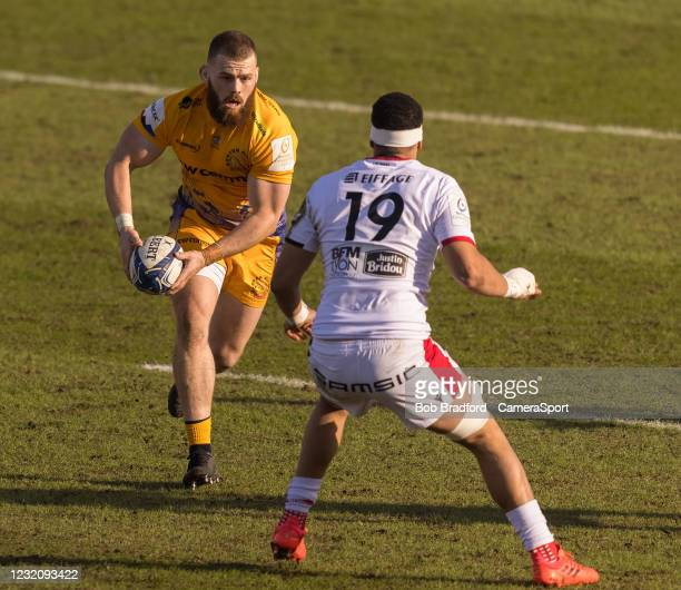 Exeter Chiefs' Luke Cowan-Dickie in action during the Heineken Champions Cup Round of 16 match between Exeter and Lyon at Sandy Park on April 3, 2021...