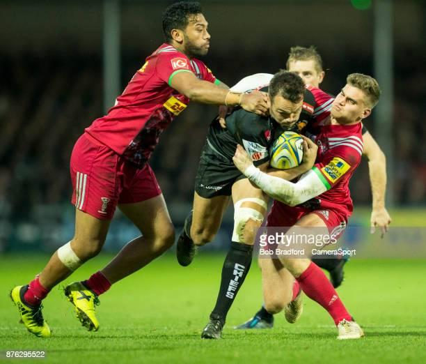 Exeter Chiefs' Phil Dollman in action during todays match during the Aviva Premiership match between Exeter Chiefs and Harlequins at Sandy Park on...