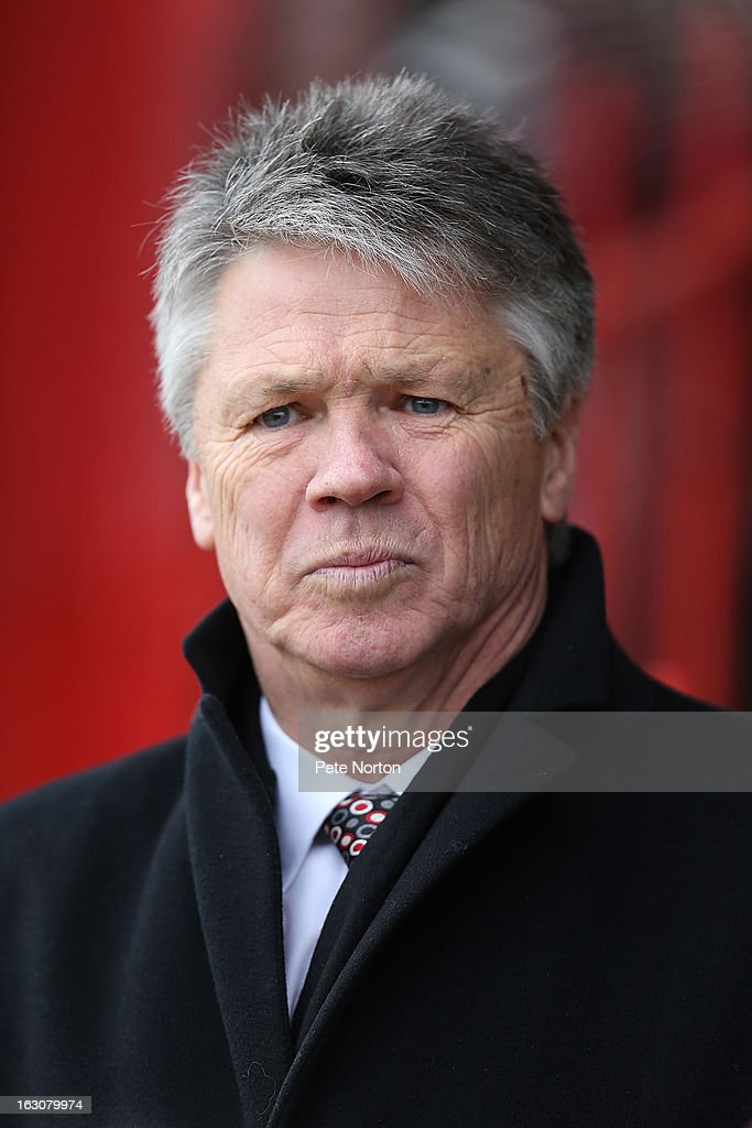 Exeter City Director of Football Steve Perryman looks on prior to the npower League Two match between Exeter City and Northampton Town at St James's Park on March 2, 2013 in Exeter, England.