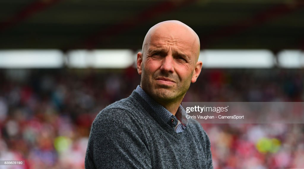 Exeter City manager Paul Tisdale during the Sky Bet League Two match between Exeter City and Lincoln City at St James Park on August 19, 2017 in Exeter, England.