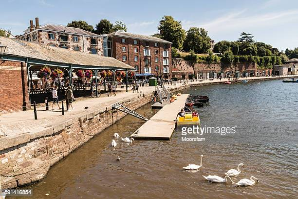 Exeter quayside a popular waterside venue for eating and drinking
