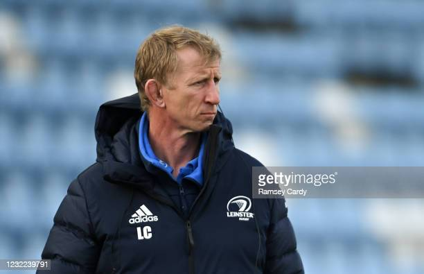 Exeter , United Kingdom - 10 April 2021; Leinster head coach Leo Cullen prior to the Heineken Champions Cup Pool Quarter-Final match between Exeter...