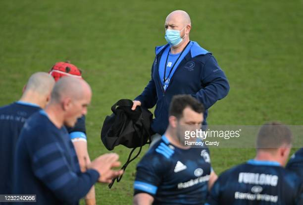 Exeter , United Kingdom - 10 April 2021; Leinster kitman Jim Bastick prior to the Heineken Champions Cup Pool Quarter-Final match between Exeter...
