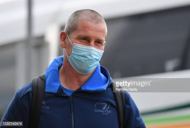 Exeter , United Kingdom - 10 April 2021; Leinster senior coach Stuart Lancaster prior to the Heineken Champions Cup Pool Quarter-Final match between...