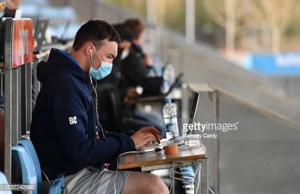 Exeter , United Kingdom - 10 April 2021; Leinster senior performance analyst Brian Colclough during the Heineken Champions Cup Pool Quarter-Final...