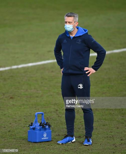 Exeter , United Kingdom - 10 April 2021; Leinster soft tissue therapist Chris Jones prior to the Heineken Champions Cup Pool Quarter-Final match...