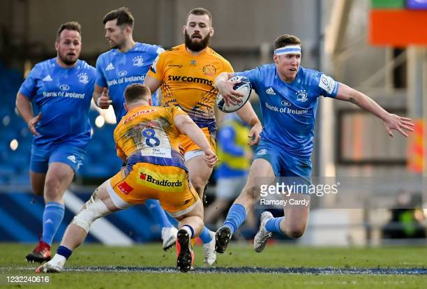Exeter , United Kingdom - 10 April 2021; Rory O'Loughlin of Leinster during the Heineken Champions Cup Pool Quarter-Final match between Exeter Chiefs...