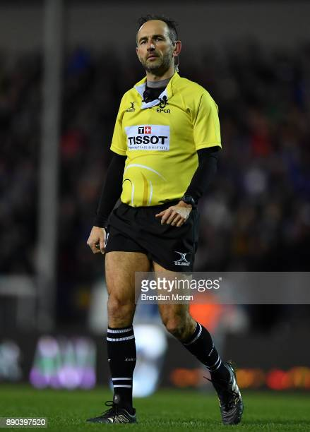Exeter United Kingdom 10 December 2017 Referee Romain Poite during the European Rugby Champions Cup Pool 3 Round 3 match between Exeter Chiefs and...