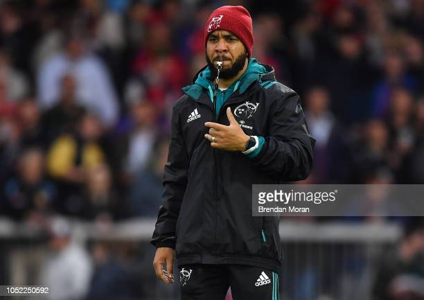 Exeter United Kingdom 13 October 2018 Head of athletic performance Denis Logan during the Heineken Champions Cup Round Pool 2 Round 1 match between...