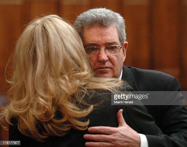 ExFBI agent John Connolly getting a hug from his wife Elizabeth was sentenced by Judge Stanford Blake on Thursday January 15 to fourty years after he...