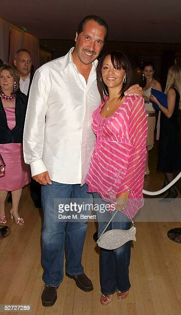 ExFootballer David Seaman and wife Debbie attend the LaurentPerrier Pink Party in aid of The Prince's Trust at the Sanderson Hotel on April 27 2005...