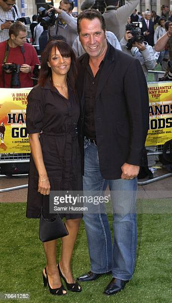 Exfootballer David Seaman and wife Debbie Seaman arrive for the premiere of 'In The Hands Of The Gods' on September 10 2007 in London England