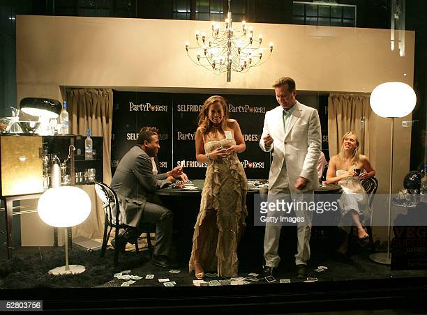 Exfootballer John Barnes rower James Cracknell DJ Spoony actress Beth Cordingly Jade Jagger and actor Val Kilmer tale part in a poker tournament at...