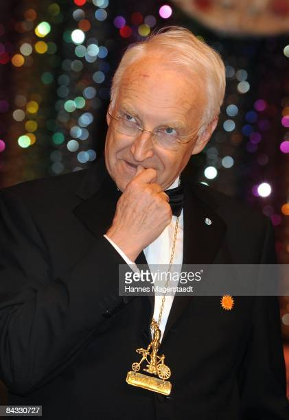 ExFormer Governor of Bavaria Edmund Stoiber attends the Karl Valentin medal ceremony at the Deutsches Theater on January 16 2009 in Munich Germany