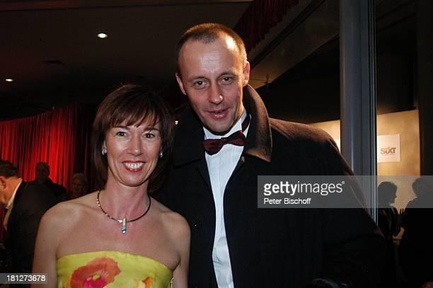 ExFraktionsvorsizender der CDU Friedrich Merz Ehefrau Charlotte Ball des Sports Frankfurter Festhalle Frankfurt Stiftung Deutsche Sporthilfe Ball...