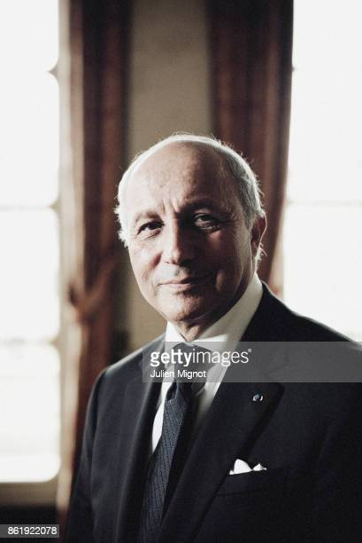 Ex-French Prime Minister Laurent Fabius is photographed for L'Express on October 2016 in Paris, France.