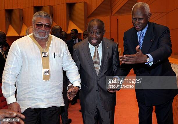 ExGhanaian president John Jerry Rawlings President Laurent Gbagbo of the Ivory Coast and the exsenegalese President and SecretaryGeneral of La...