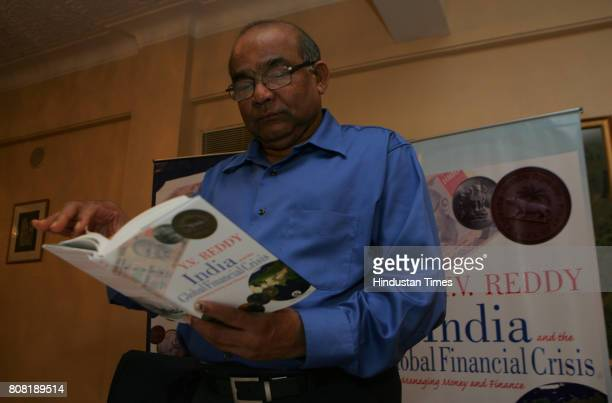 ExGovernor of RBI YV Reddy at introduction of Book India and Global Financial Crisis in Mumbai on Thursday