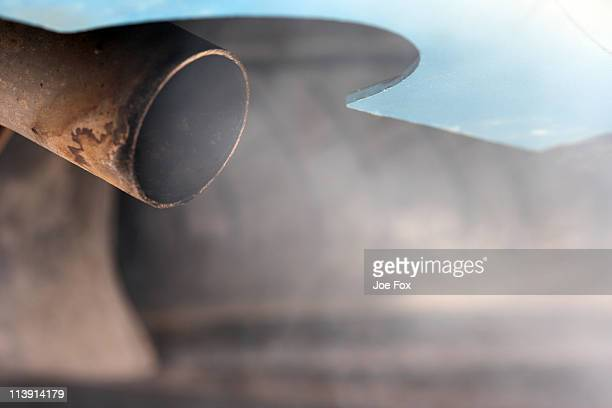 exhaust fumes from a diesel vehicle - fumes stock photos and pictures