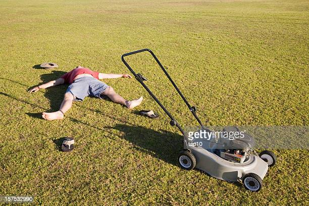Exhausted Lawn Mower