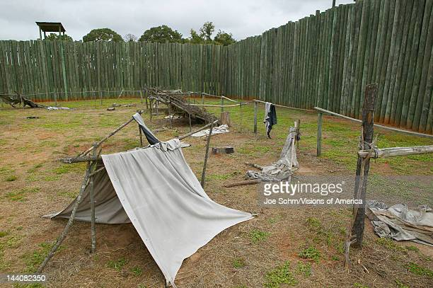 Exhibit at National Park Andersonville or Camp Sumter Site of Confederate Civil War prison and cemetery for Yankee Union prisoners