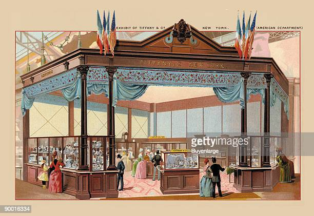 Exhibit of Tiffany and Co at the Paris Exhibition 1889