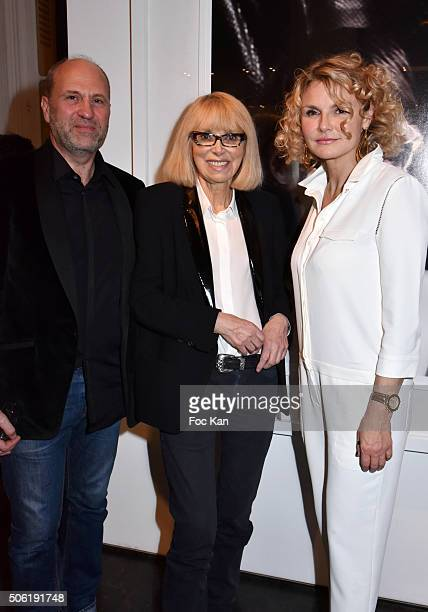 Exhibition AD Olivier de Larue d'Argere Mireille Darc and Alexandra Bronkers attend the Mireille Darc Photo Exhibition Preview at Artcurial on...