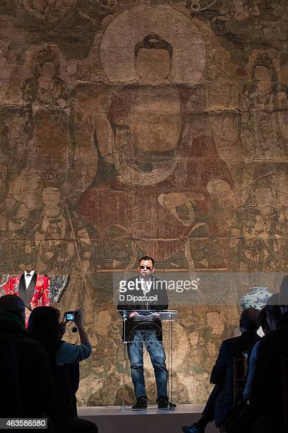 Exhibition artistic director Wong Kar Wai speaks onstage during the Metropolitan Museum Of Art's 'China Through The Looking Glass' Press Presentation...