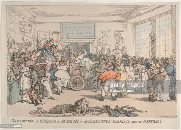 Exhibition at Bullock's Museum of Bonaparte's Carriage Taken at Waterloo January 10 1816 Artist Thomas Rowlandson