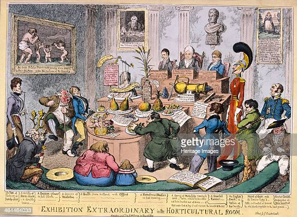 Exhibition at the Royal Horticultural Society London 1826 An unusual exhibition in the Great Room of the Horticultural Society in Lower Regent Street...