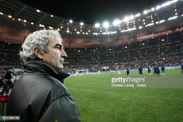 Exhibition game France vs Slovakia Slovakia won 21 French national soccer team coach Raymond Domenech