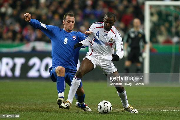 Exhibition game France vs Slovakia Slovakia won 21 Nemeth and Patrick Vieira