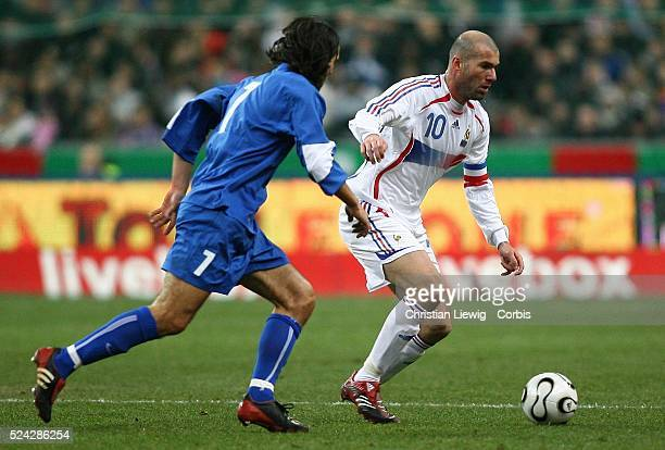Exhibition game France vs Slovakia Slovakia won 21 Zinedine Zidane