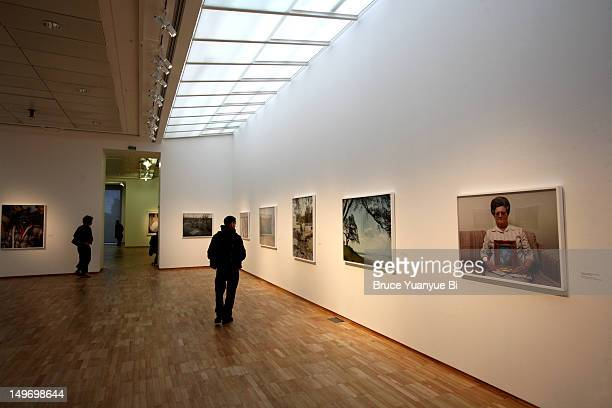 exhibition hall of jeu de paume. - art show stock pictures, royalty-free photos & images